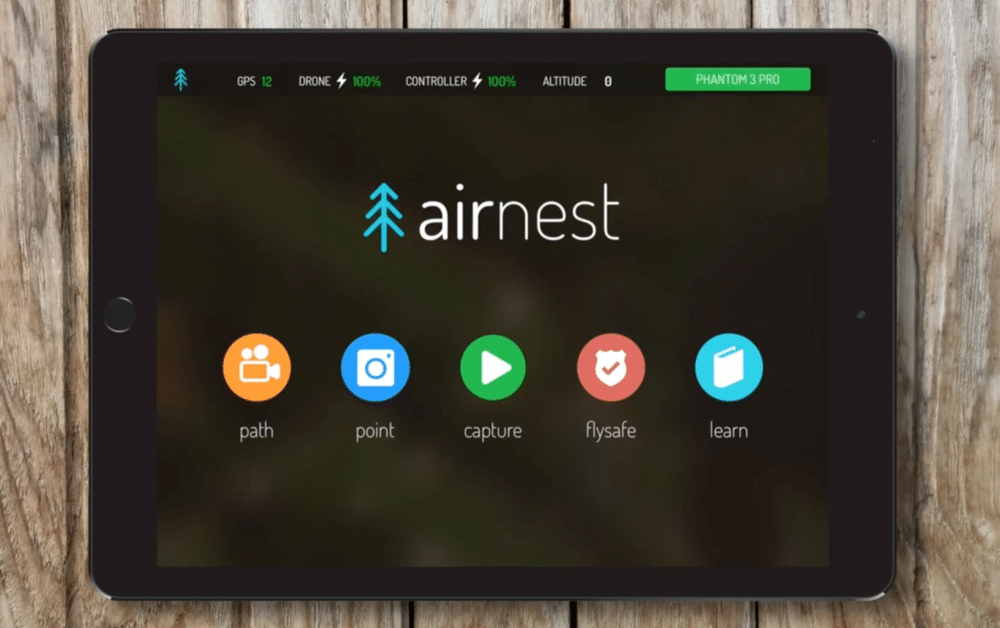 Airnest drone app for ipad and iphone