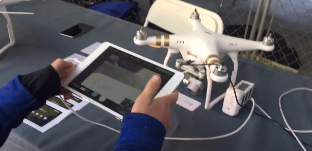 Moving drone camera with airnest app