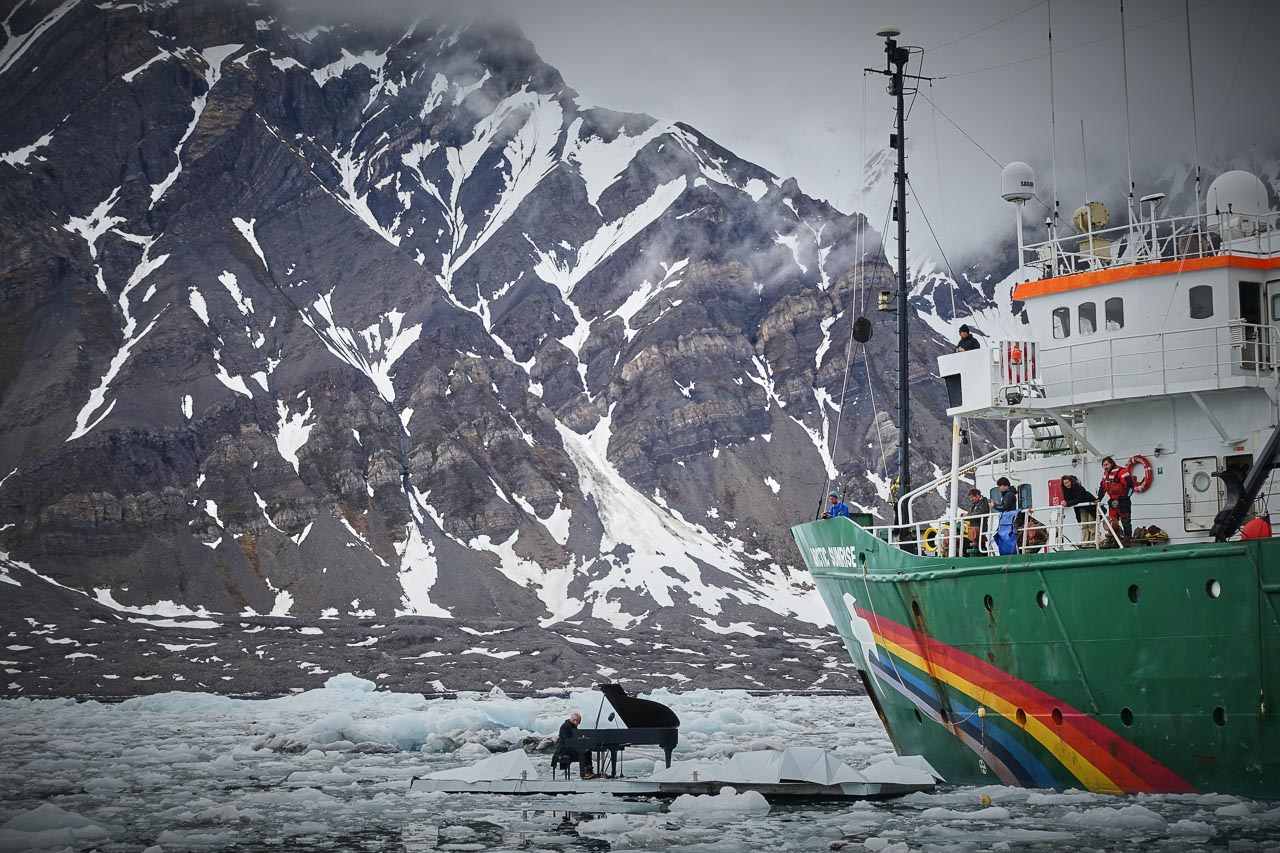 Ludovico Einaudi and the Arctic Sunrise