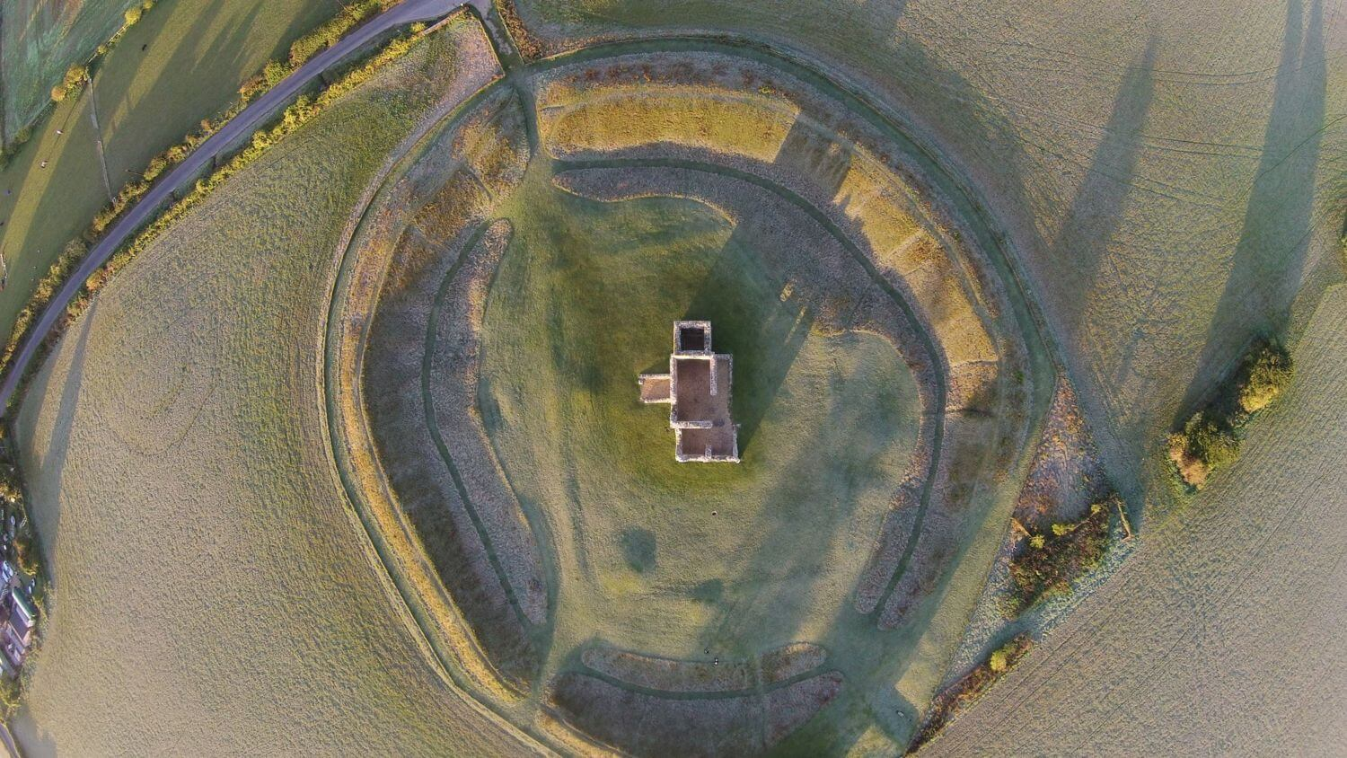 400ft Britain - Drone Photography & Videography Competition Launched By CAA & VisitEngland - Knowlton Church, Dorset