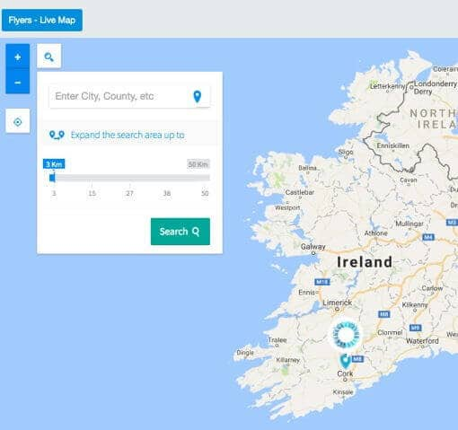 Skytango Real-time map - Location filters for buyers