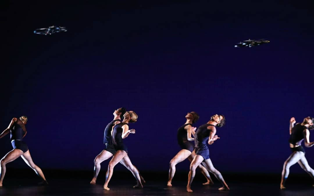 Dance Show The Machines Features Dancers And Programmed Flying Drones