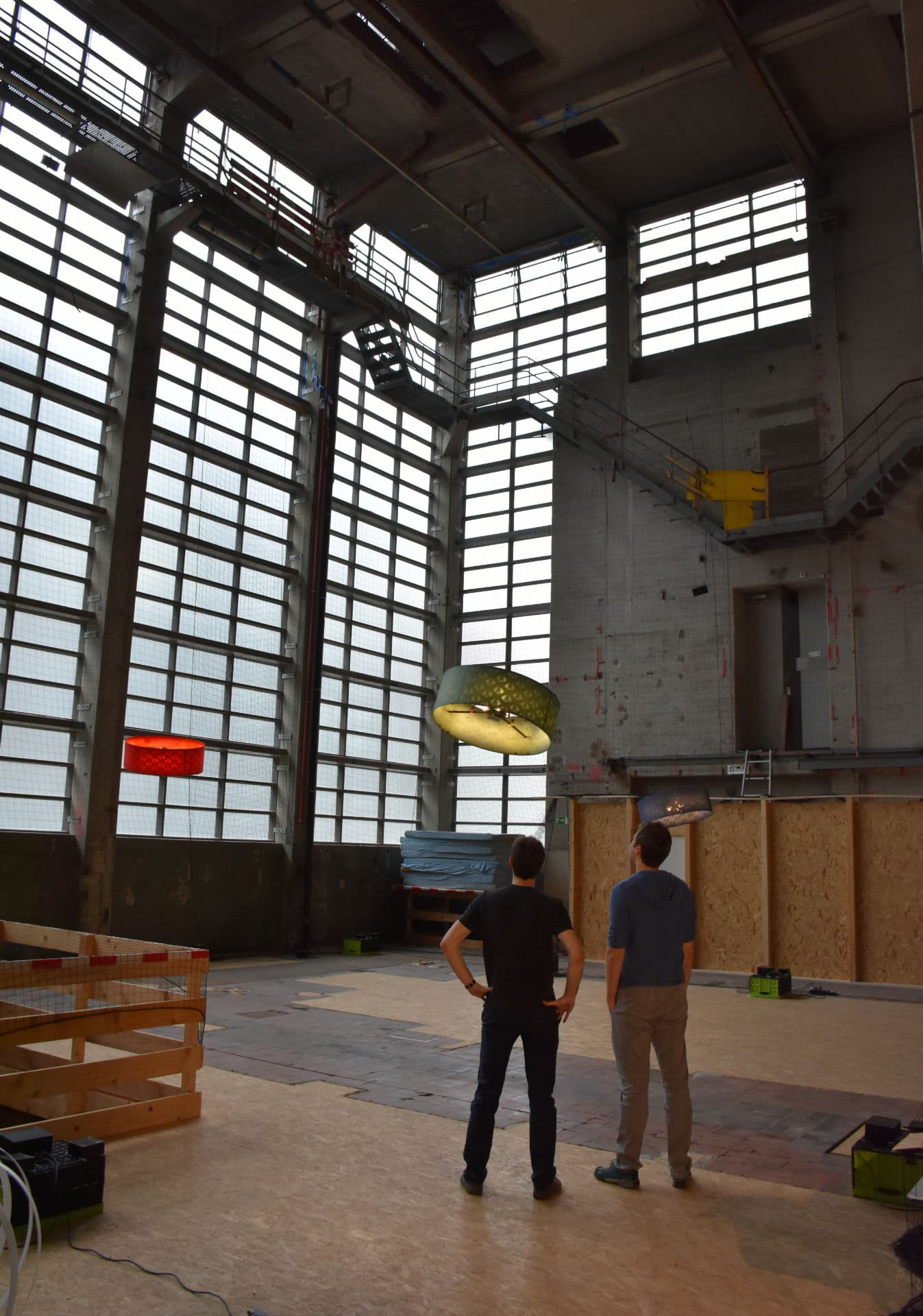 Testing Paramour's drone flight inside Verity Studios research center