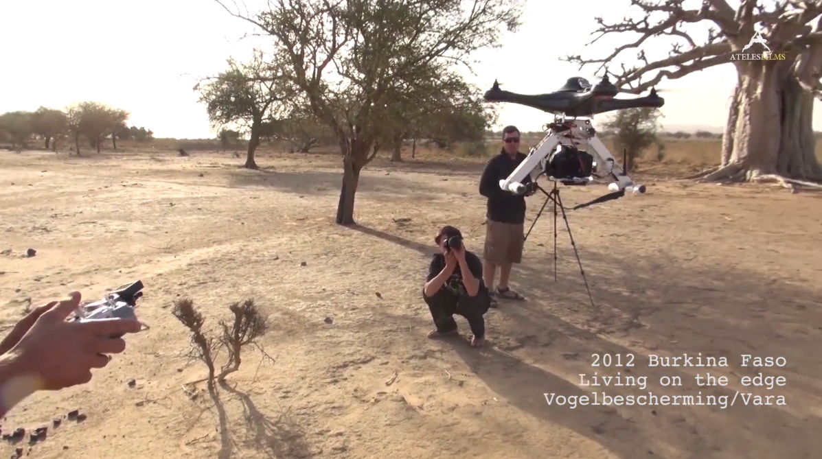 Drone used by Michael Sanderson to shoot for Living On The Edge in Burkina Faso