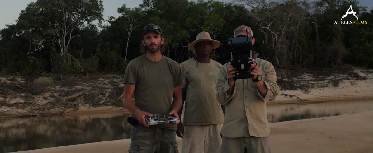 Michaels Sanderson and part of the crew which filmed for Planet Earth 2 in Brazil