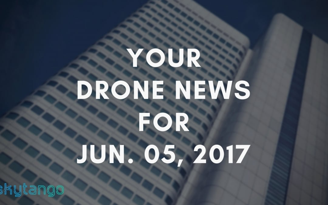 Your Drone News For 5 June 2017: Drone Delivery, Safe2Ditch, Drone Games, Men Flying on Drones