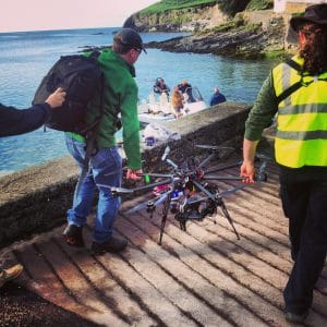 Skytango on the boat, drone compliance, certified aerial footage